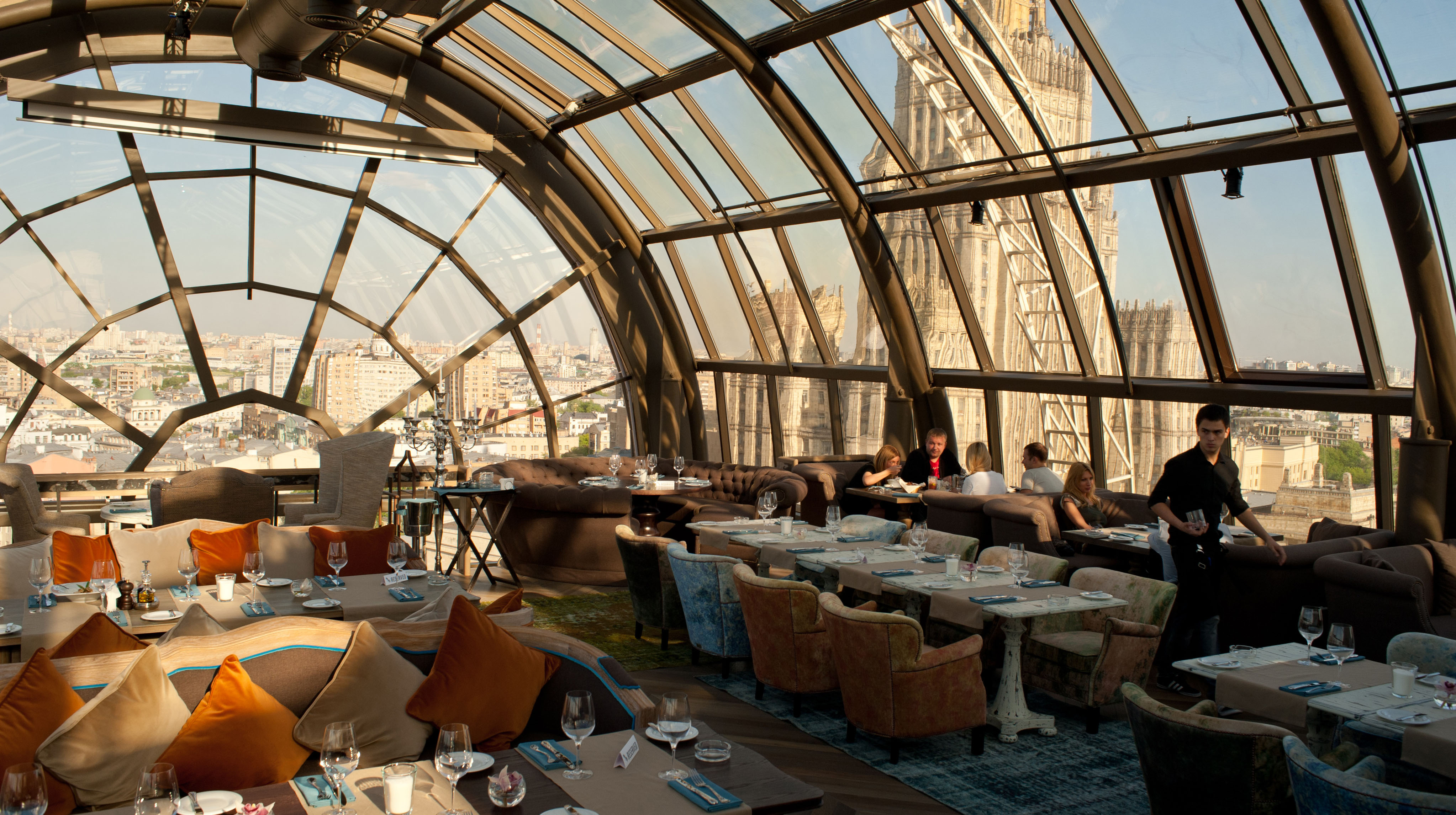 Cafe in Moscow on the roof - a great romantic surprise for the second half 21