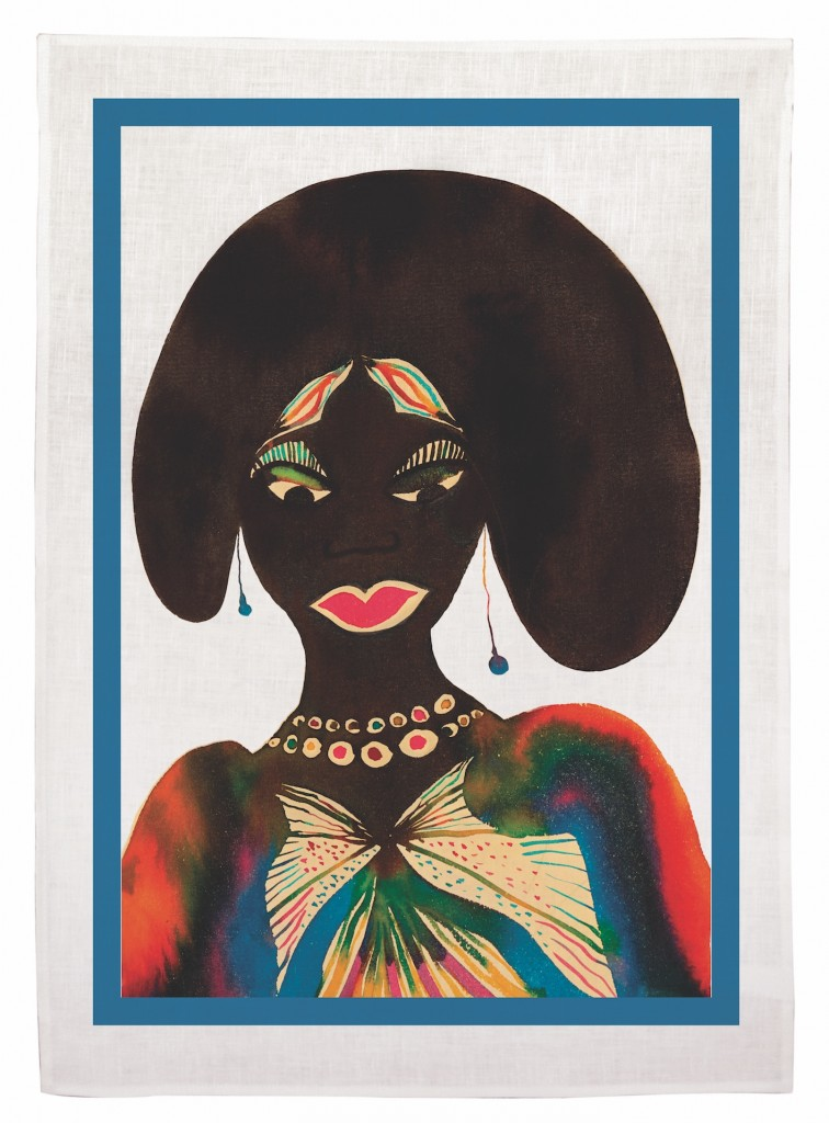 Chris Ofili Woman tea towel £35.00