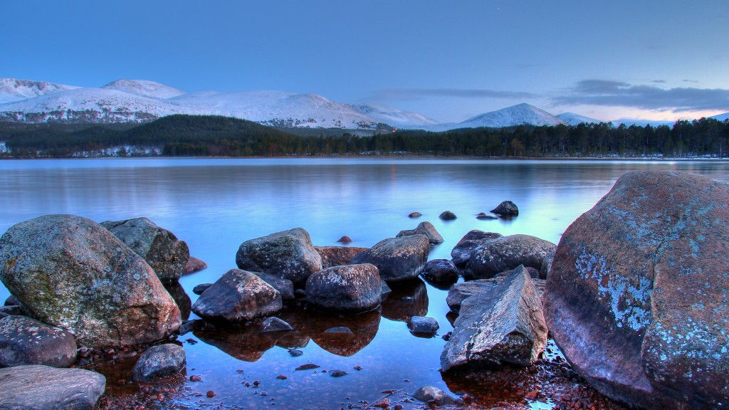 Loch Morlich with the Cairngorm Mountains beyond ©Graham Norrie