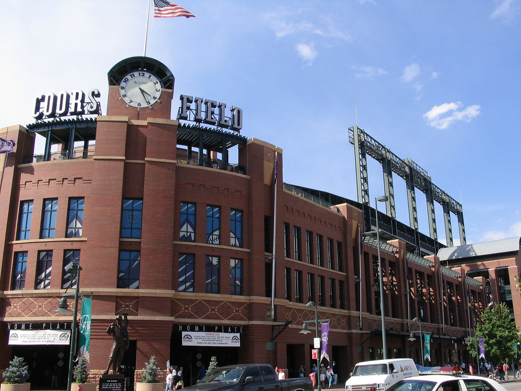 Coors Field, Denver, Colorado, Home of the Colorado Rockies © Ken Lund/Flickr