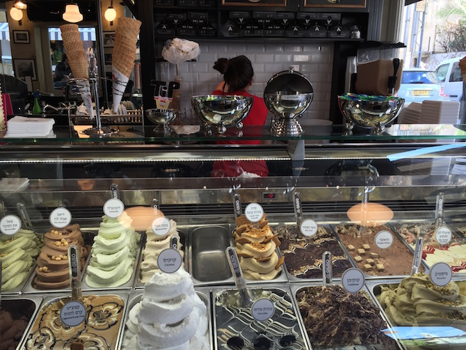 Ice cream flavors at Anita   © Brooke Yalo