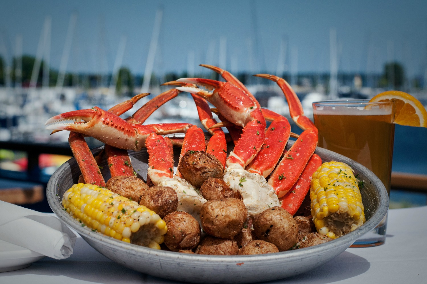 Snow crab legs at Dockers Fish House | Courtesy of Dockers Fish House