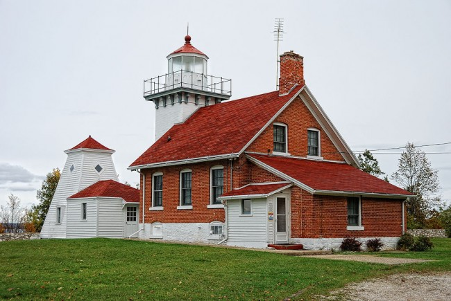 Sherwood Point Light, Door County, WI | © Dave from Beaver Dam, WI/WikimediaCommons