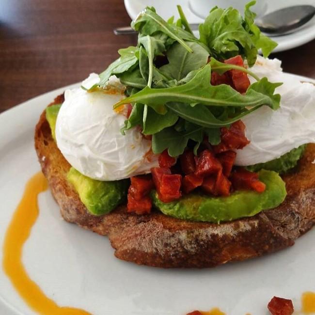 Avocado, chorizo and poached egg on sourdough toast / Courtesy of Baked