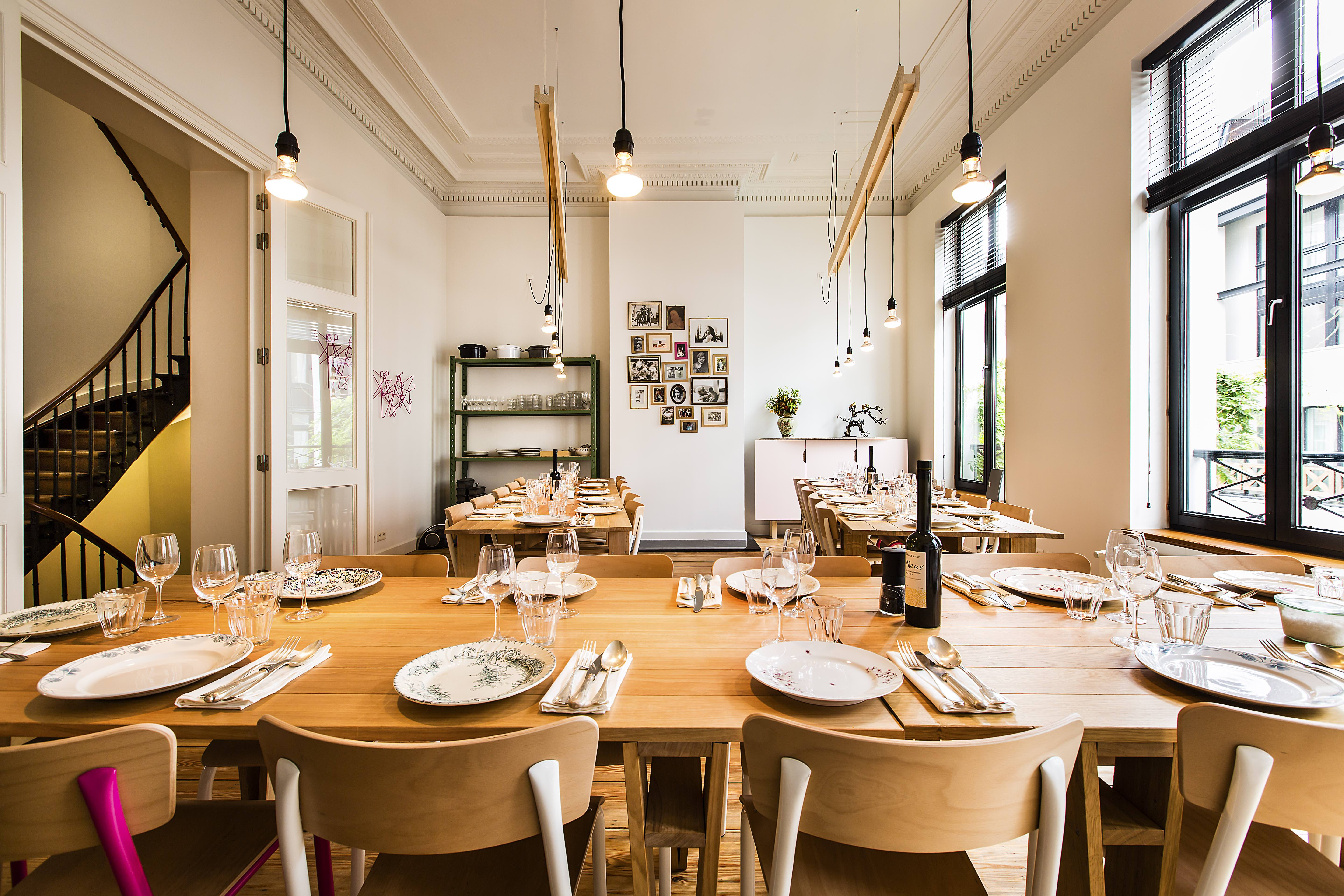 The dining area of Les Filles Plaisirs Culinaires   Courtesy of Les Filles Plaisirs Culinaires
