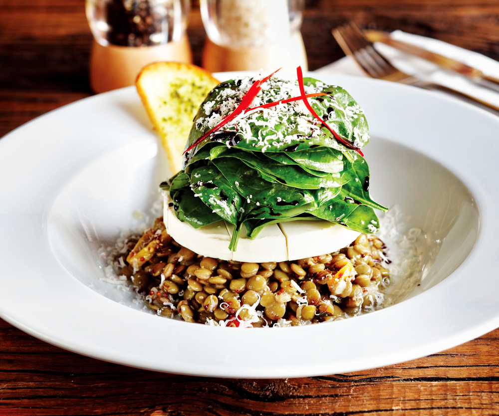 Prepared With A Special Presentation Goat Cheese Lentil Salad Futuristman Shutterstock