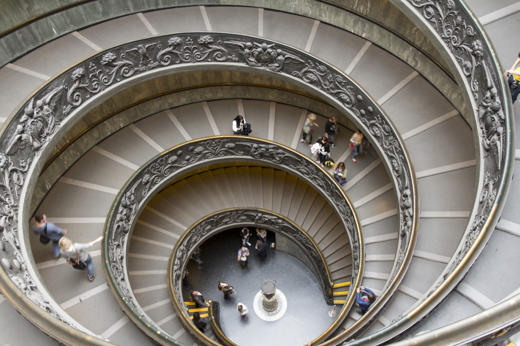 Vatican Museums Spiral Staircase © Anthony