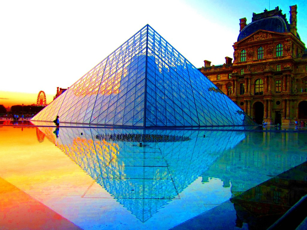 The Louvre Pyramid at sunset © Peggy2012CREATIVELENZ