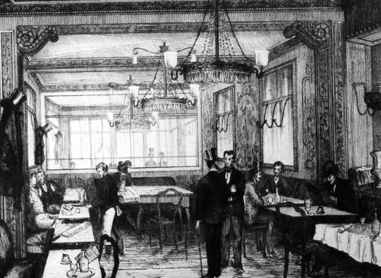 Gravure of Café Procope © Goldner l WikiCommons