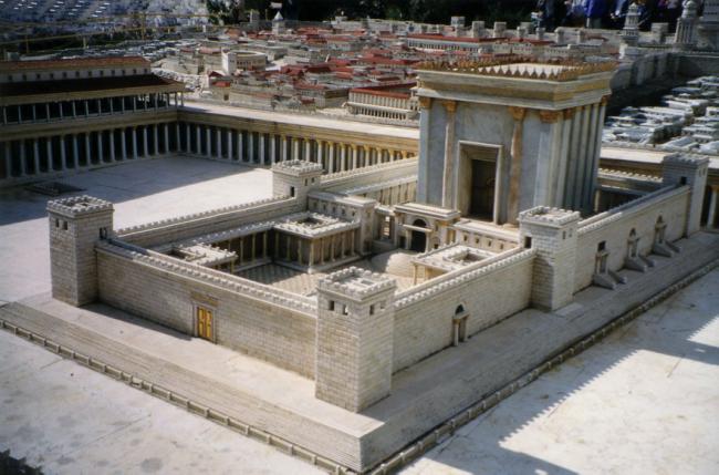 Imagined Jerusalem Temple © Juan R. Cuadra/WikiCommons