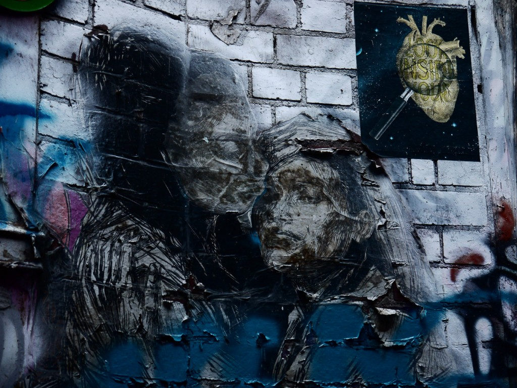 Wheatpaste, Spray Paint And Marker Pen, Duckboard Place l © Ash Seagrave