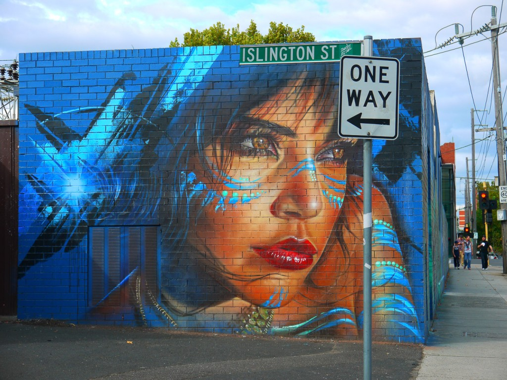 Girl In Blue, Islington St, Collingwood l © Ash Seagrave