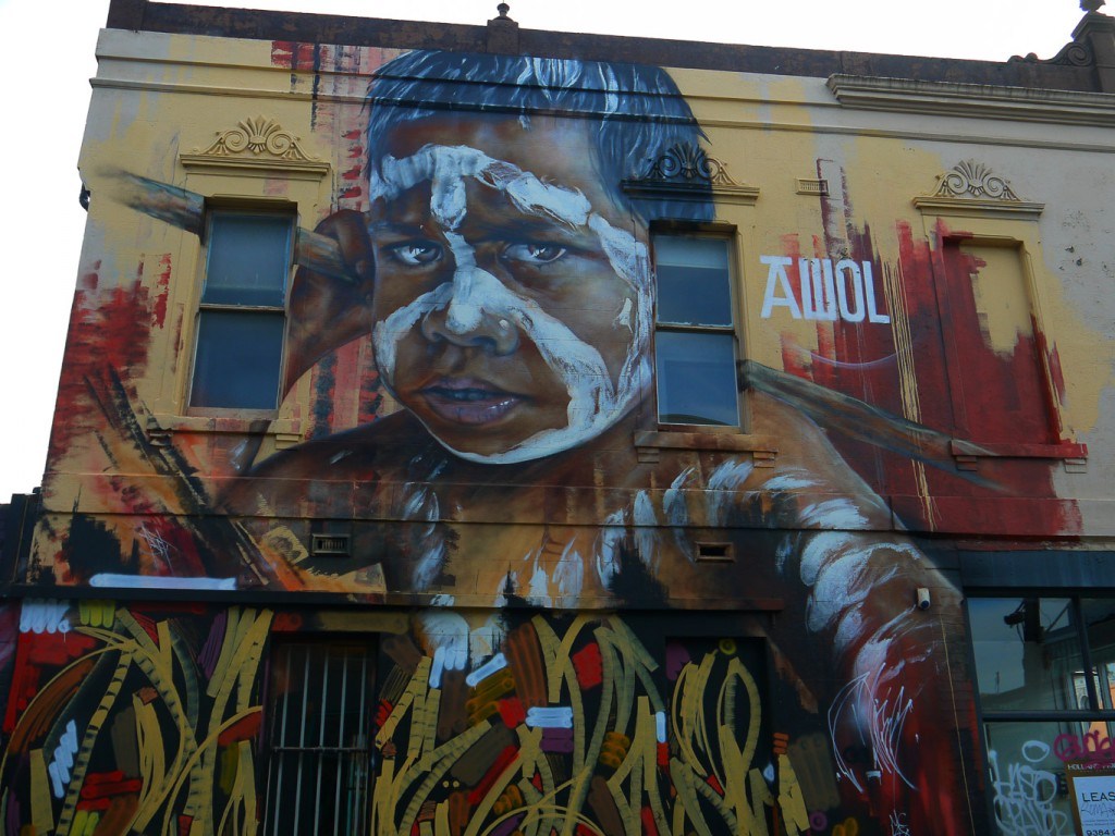 Aboriginal Boy By Adnate and AWOL crew, Fitzroy l © Ash Seagrave