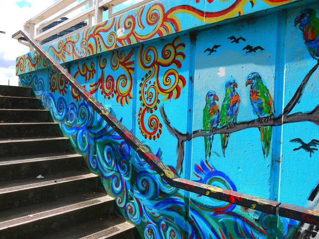 Bird Scene Up The Steps At St Kilda Junction l © Ash Seagrave