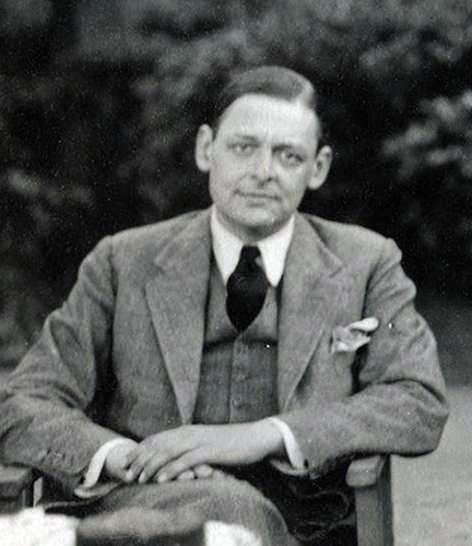 T.S. Eliot ©Lady Ottoline Morrell/ WikiCommons