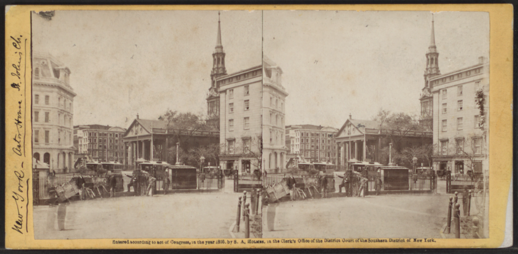 Astor House, New York, from Robert N. Dennis collection of stereoscopic views 3   © Dcoetzee/Wikimedia Commons