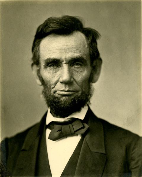 Abraham Lincoln O-77 matte collodion print   © Alexander Gardener/WikiCommons