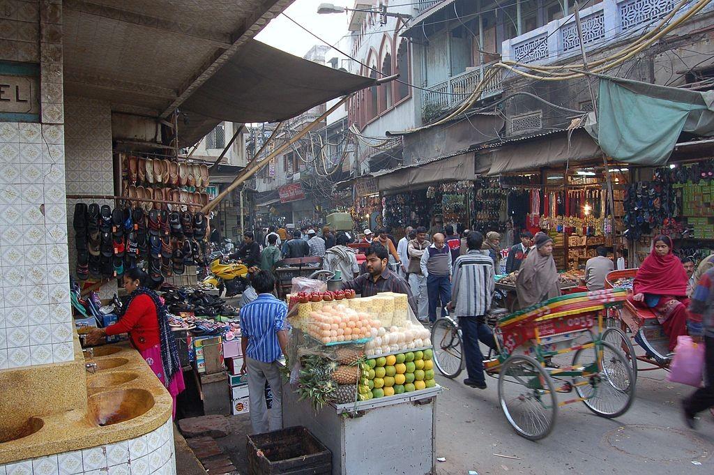 Chandni Chowk, Delhi, 2008/©Bahnfrend/WikiCommons