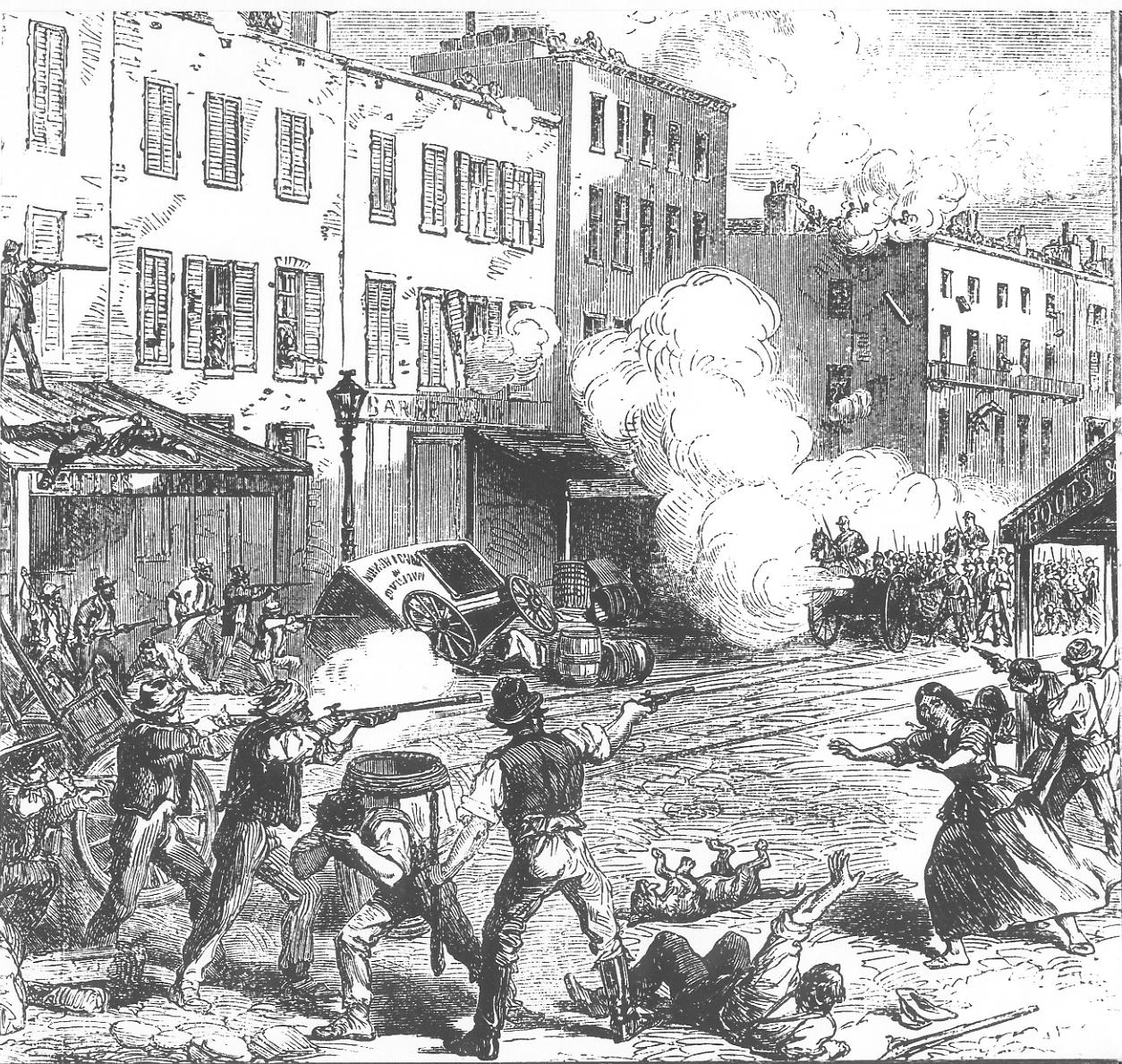 New York Draft Riots - fighting   © Moulder~commonswiki/Wikimedia Commons