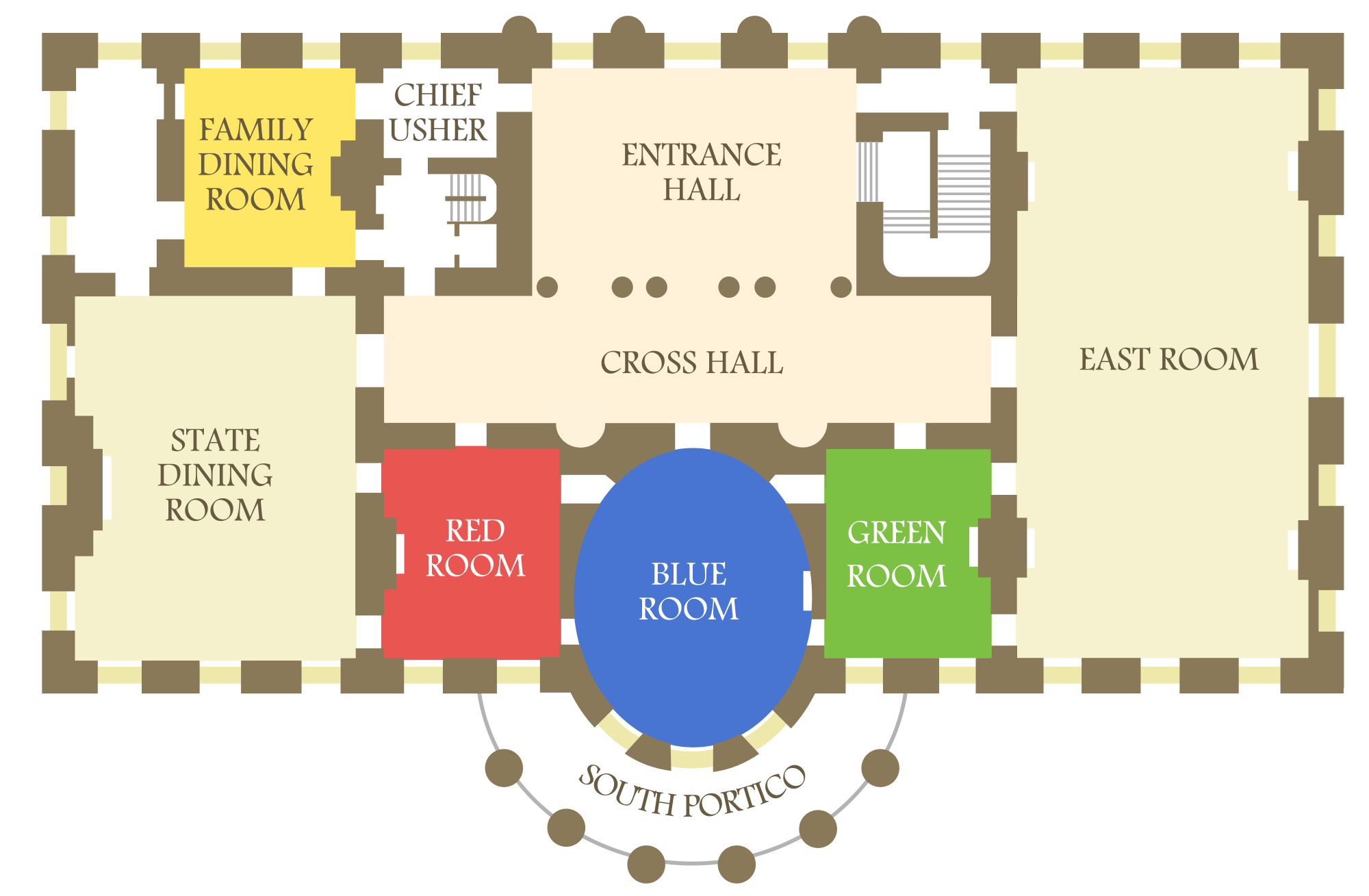 west wing office space layout circa 1990. West Wing Office Space Layout Circa 1990