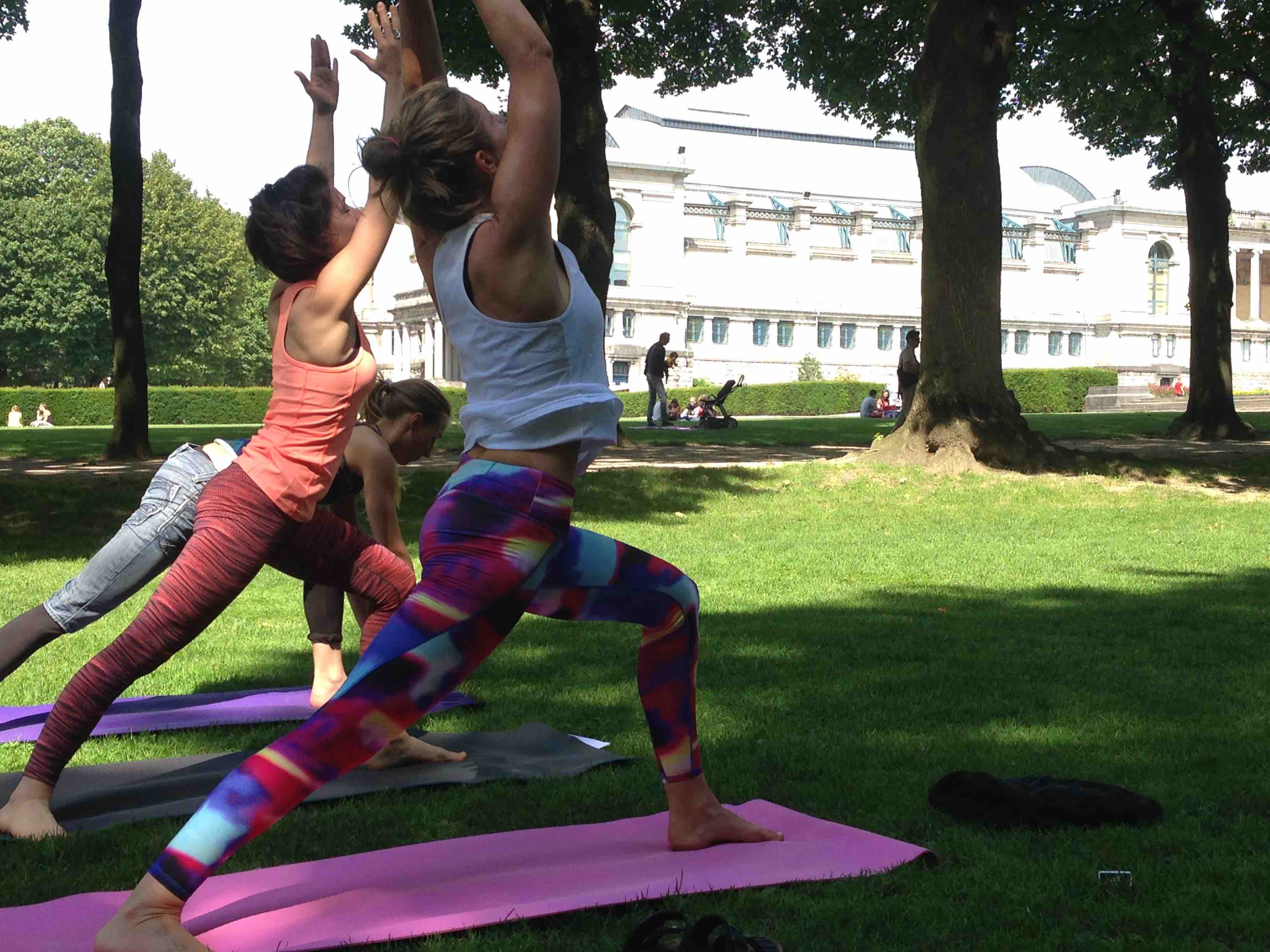 The Yoga Loft Takes Advantage Of Beautiful Weather By Moving Classes Into Green Surroundings
