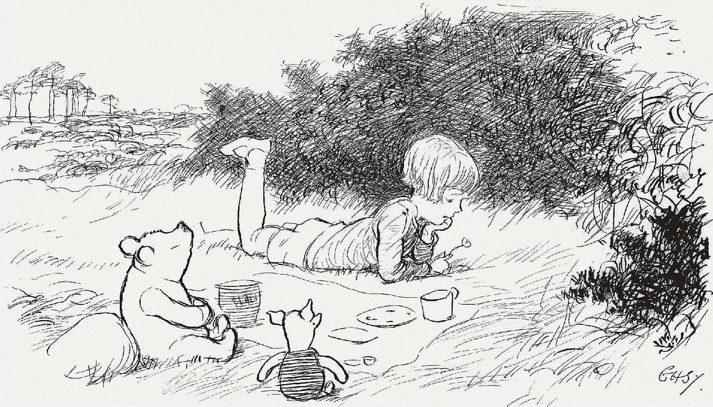 Winnie the Pooh illustration by E.H. Shepard | © Paul K / Flickr