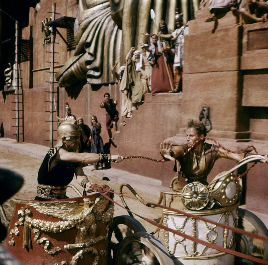 Title: BEN HUR (1959) ¥ Pers: BOYD, STEPHEN / HESTON, CHARLTON ¥ Year: 1959 ¥ Dir: WYLER, WILLIAM ¥ Ref: BEN003DD ¥ Credit: [ MGM / THE KOBAL COLLECTION ]