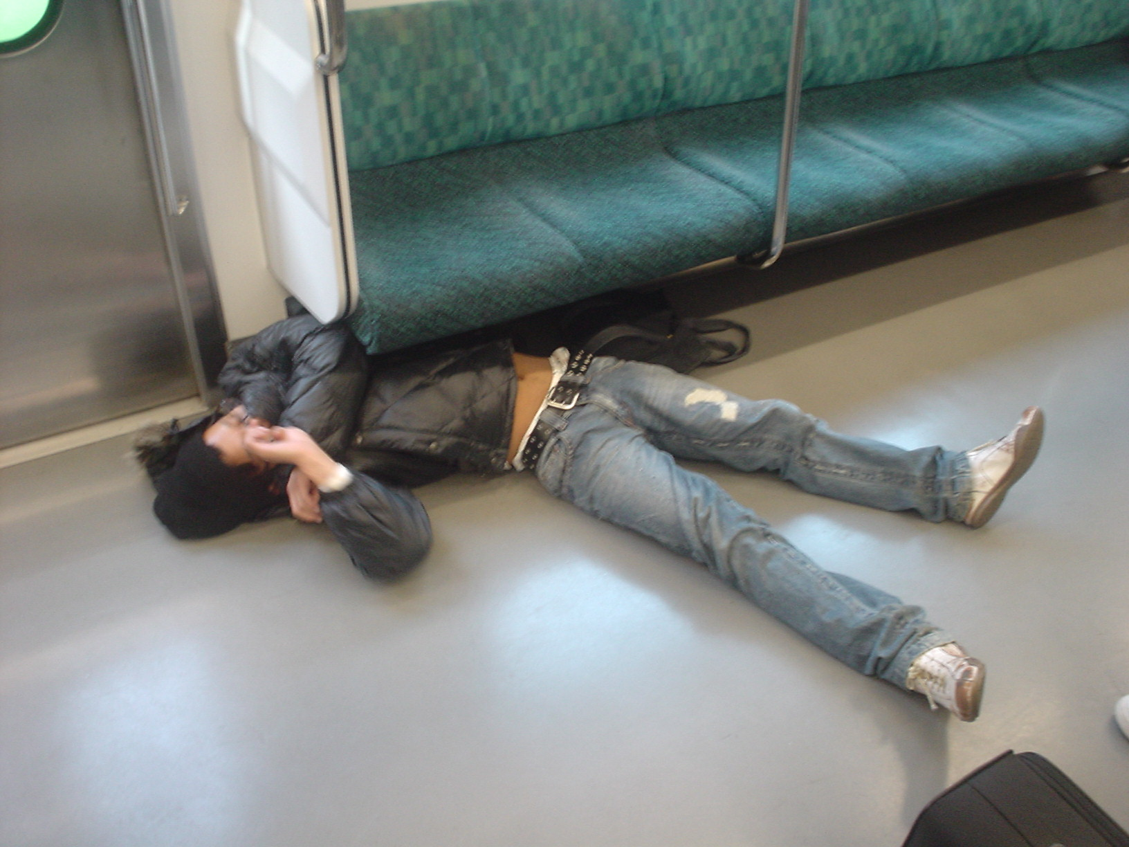 Drunk japanese girl on the train