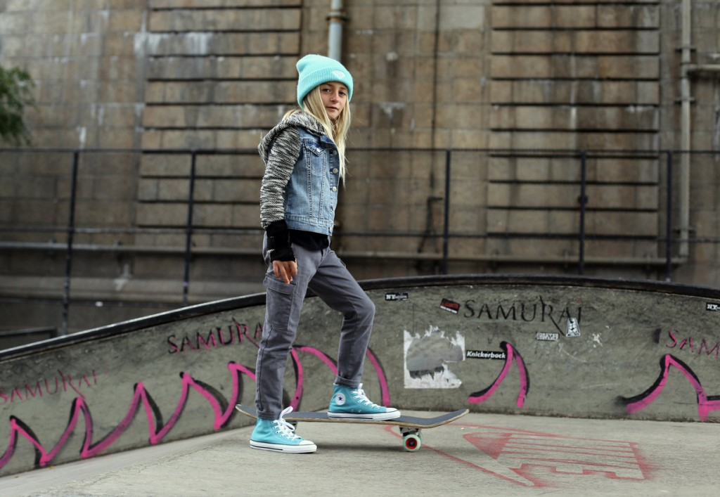 Zoe Herishen, 9, has been skateboarding for about two years | © Kelsea Kosko