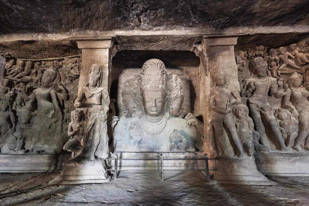Elephanta Island caves near Mumbai in Maharashtra state, India © Saiko3p / Shutterstock