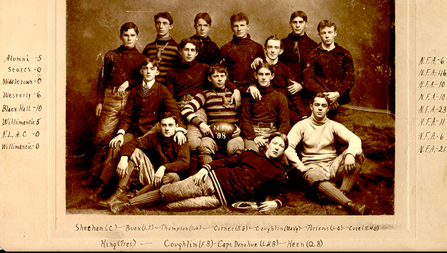 The 1898 Norwich Free Academy Football team | © Norwich Free Academy