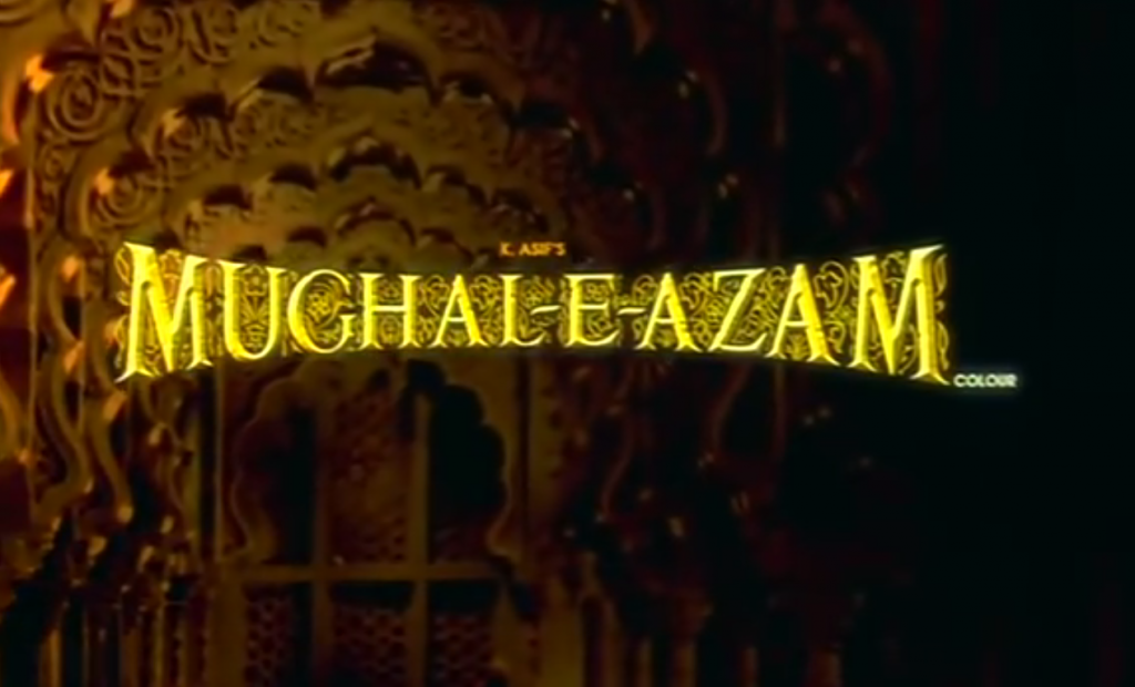 Still from the opening credits of Mughal-E-Azam | YouTube