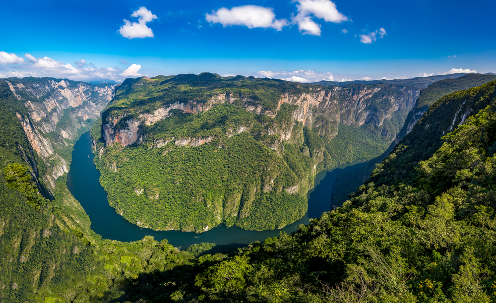 view from above the sumidero canyon chiapas mexico diego grandi shutterstock