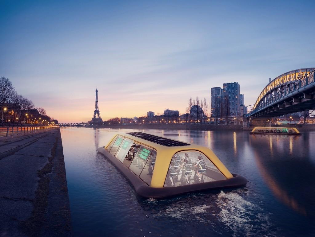 The Paris Navigating Gym at the Eiffel Tower │© Carlo Ratti Associati