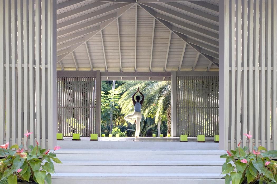The Carlisle Bay Yoga Pavilion