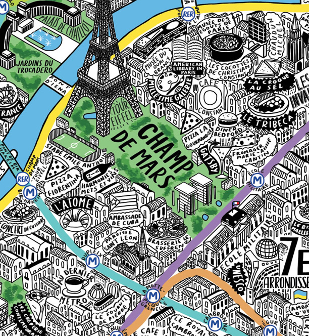 This Is The Most Beautiful Map Of Paris You Will Ever See - Paris map 2016