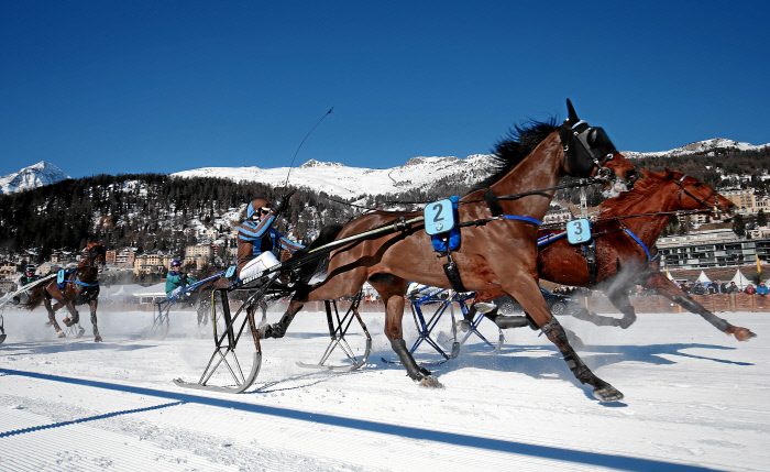 One of the races at 2017 White Turf | © swiss-image/AndyMettler