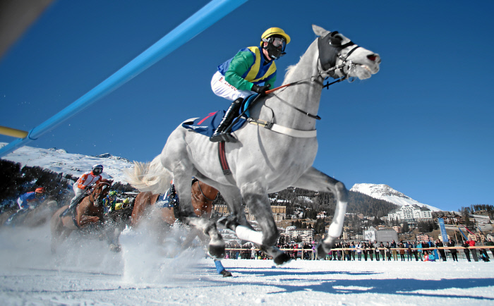 A race at 2017 White Turf | © swiss-image/AndyMettler