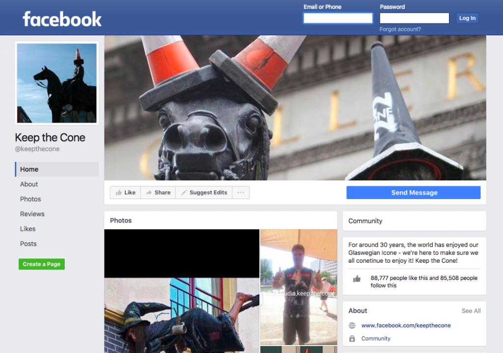 Keep The Cone Facebook Page   © Facebook