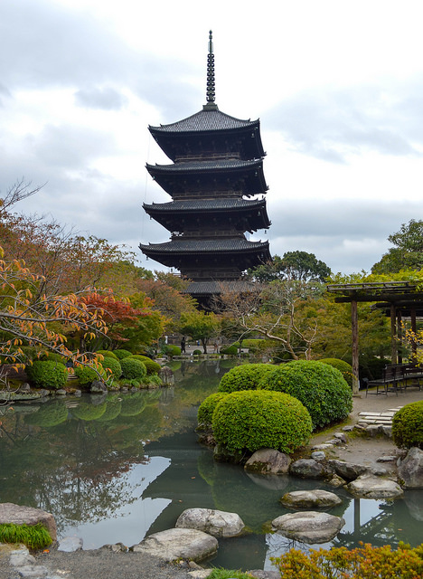 The Five Storey Pagoda at To-ji Temple