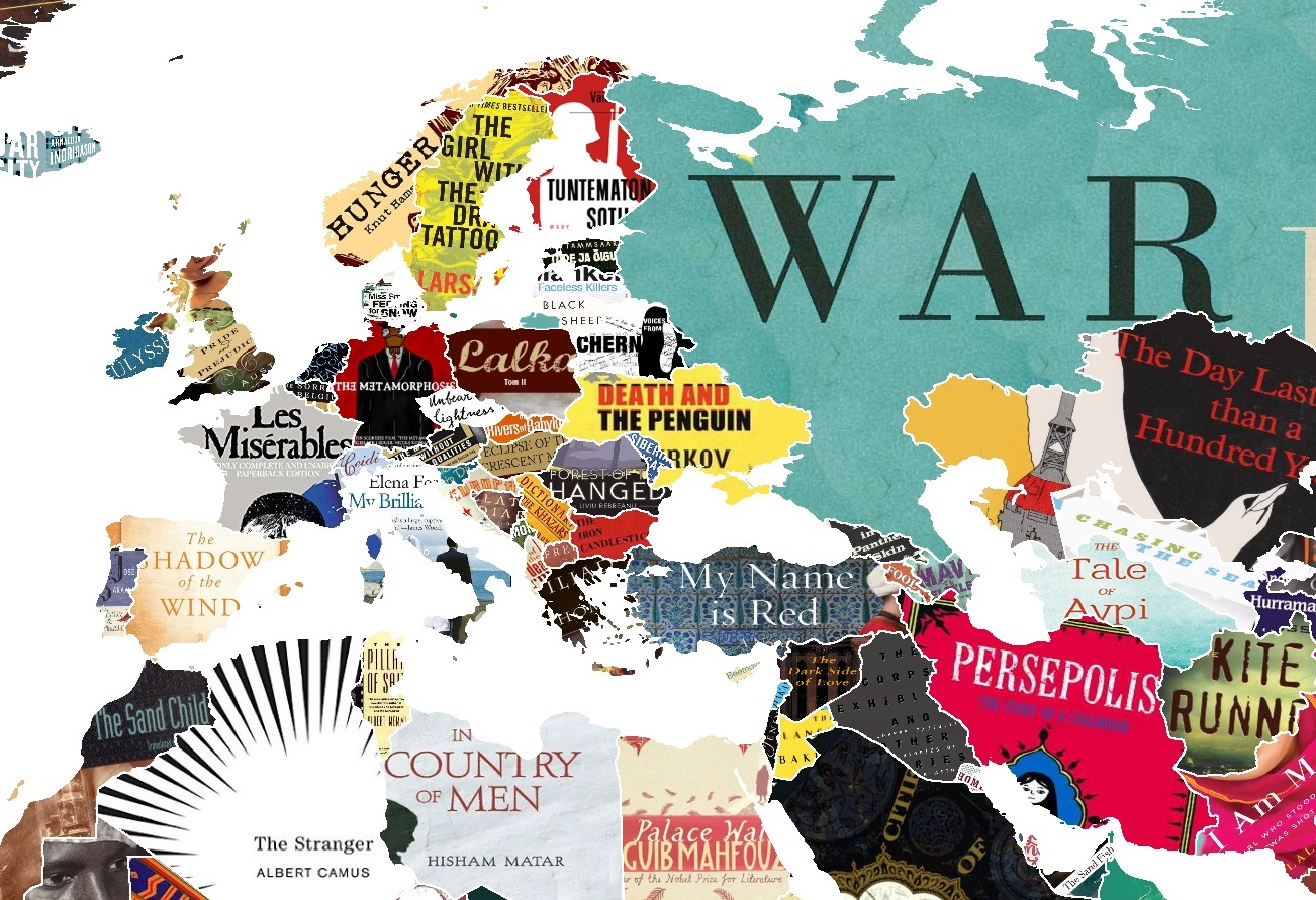 This literature map of the world shows you every countrys favourite this literature map of the world shows you every countrys favourite book gumiabroncs Choice Image