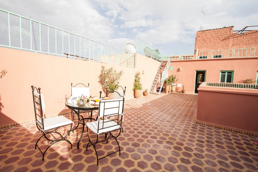 Terrace of riad