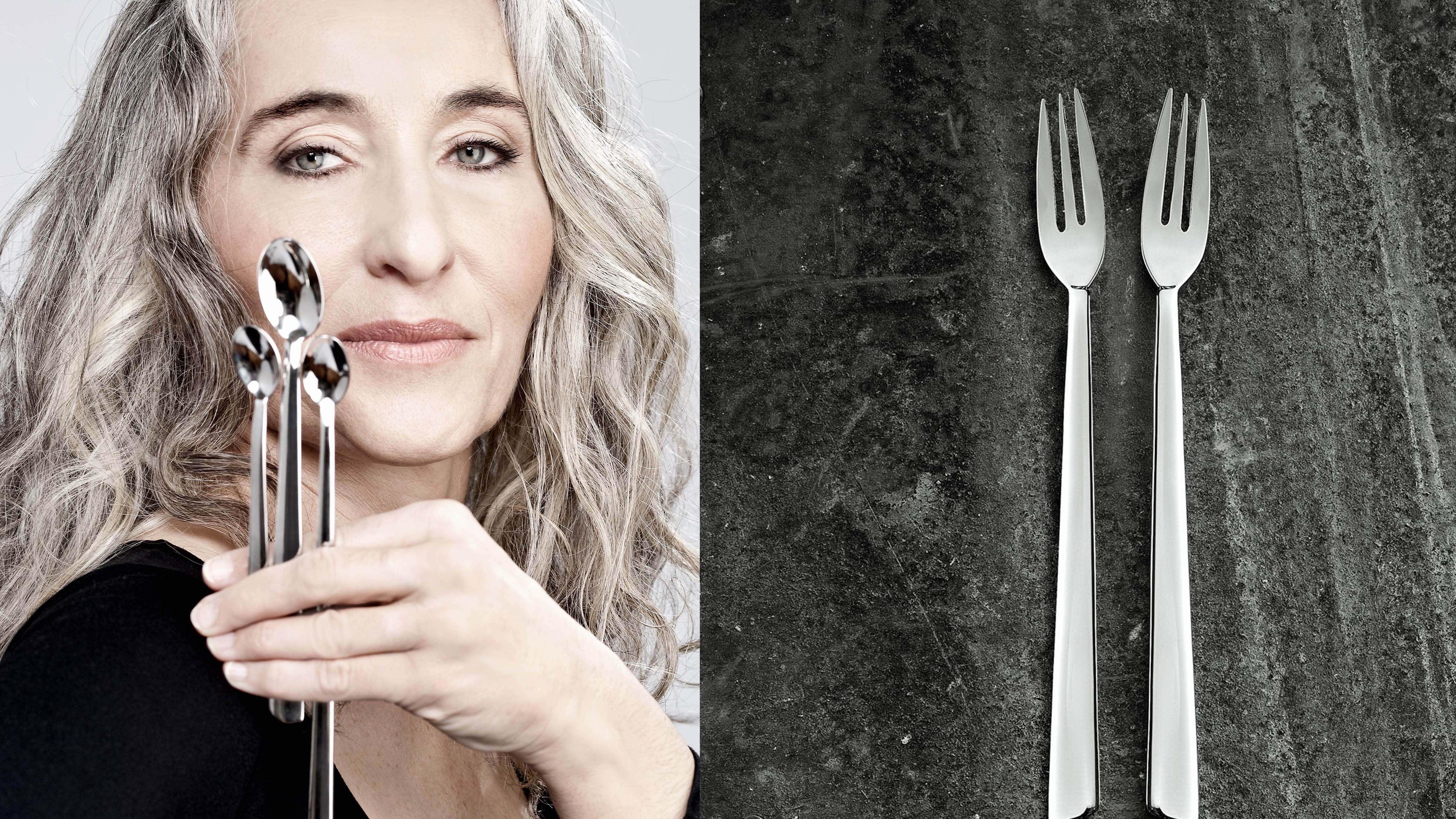 From L to R: Vera Purtscher, designer / Desert spoons   © Christian Postl / Alexander Bayer