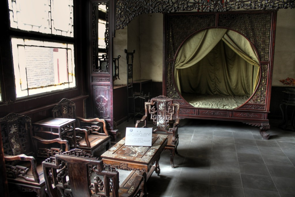 Host's bedroom, Shi Mansion © Flickr