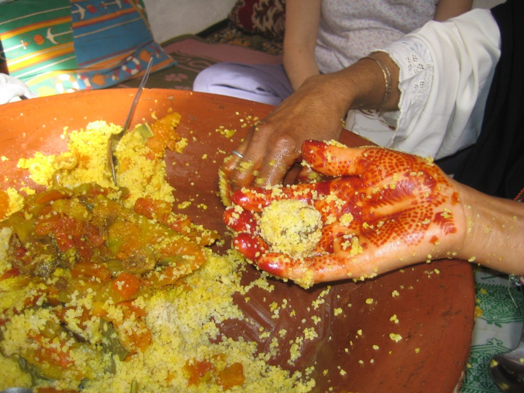Eating couscous