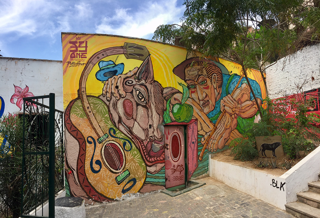 A murals lovers tour of limas barranco district