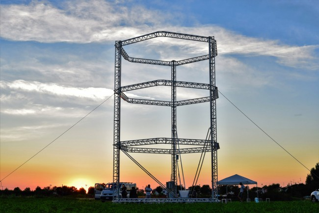 The 12 metre-tall Delta printer | © WASP