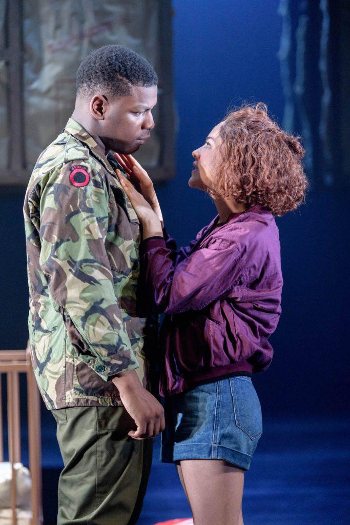 John Boyega as Woyzeck, Sarah Greene as Marie   © Old Vic