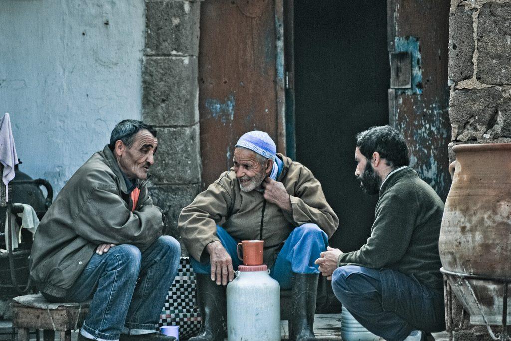 Men chatting in Morocco