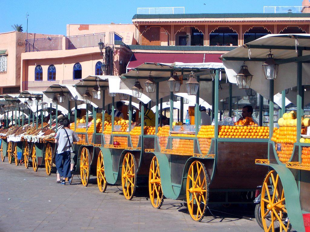 Orange juice sellers